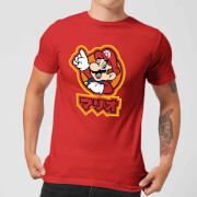Nintendo Super Mario Mario Kanji Men's T-Shirt - Red