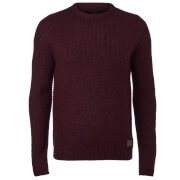 Threadbare Men's Sedley Crew Neck Jumper - Burgundy Twist
