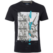 Threadbare Men's Split T-Shirt - Black