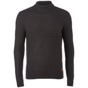 Threadbare Men's Griffin Turtleneck Jumper - Jet Black