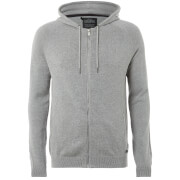 Sweat à Capuche en Maille Homme Hampton Threadbare - Gris Clair Chiné