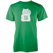 Lucky Cat Green T-Shirt