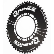 Rotor Q Aero Outer Chainring 5 Bolt – 54T – 110BCD – Black