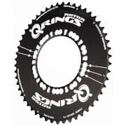 Rotor Q Aero Outer Chainring – Black – 53T – 130BCD – Black