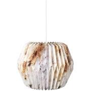 Image of Broste Copenhagen Paper Lightshade - Design No. 17 - Brown