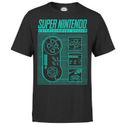 T-Shirt Homme Super Nintendo Entertainment System - Noir