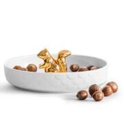 Sagaform Ceramic Squirrel Bowl - White