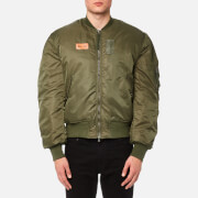Maharishi Men's MA-1 Flight Jacket - Mil Olive - L - Green