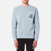 Maharishi Men's Golden Chest Crew Sweatshirt - Ghost Blue