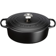 Le Creuset Signature Cast Iron Oval Casserole Dish - 23cm - Satin Black