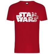 Star Wars Die letzten Jedi (The Last Jedi) Faded Logo Männer T-Shirt - Rot