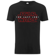 Star Wars Men's The Last Jedi Stencil Logo T-Shirt - Black