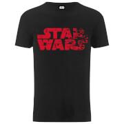 Star Wars Die letzten Jedi (The Last Jedi) Faded Logo Männer T-Shirt - Schwarz