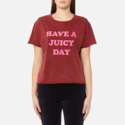 Juicy Couture Women's Juicy By Juicy Have A Juicy Day T-Shirt - Ruby Crown
