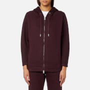 adidas by Stella McCartney Women's Essential Spacer Hoody - Deep Burgundy/Dark Burgundy - S - Red