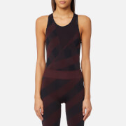 adidas by Stella McCartney Women's Training Seamless Bodysuit - Dark Burgundy/Legend Blue - M - Red