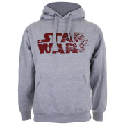 Star Wars Men's The Last Jedi Rebel Text Logo Hoody - Light Grey Marl