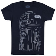 Star Wars Boys' Die letzten Jedi (The Last Jedi) R2-D2 Outline T-Shirt - Navy