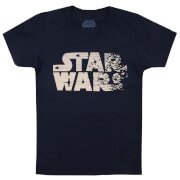 Star Wars Boys' The Last Jedi Rebel Text Logo T-Shirt - Navy