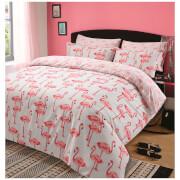 Dreamscene Flamingo Duvet Set - Pink