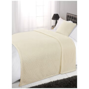 Dreamscene Cream Waffle Throw