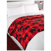 Dreamscene Scottie Dog Soft Fleece Throw (120 x 150cm)