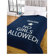 Dreamscene No Girls Allowed Soft Fleece Throw (120 x 150cm)