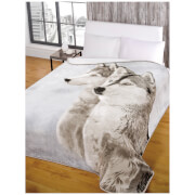 Dreamscene Husky Faux Fur Throw (150 x 200cm)