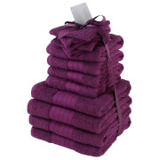 Highams 100% Cotton 12 Piece Towel Bale (500GSM) - Purple