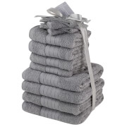 Highams 100% Cotton 12 Piece Towel Bale (500GSM) - Grey