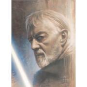 Affiche Star Wars Timeless Series: #1 - Obi-Wan par Jerry Vanderstelt - Exclusivité Zavvi (Encadrée)