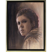 Lucasfilm Star Wars: A New Hope Timeless Print Series - Leia by Acme Archive's Artist Jerry Vanderstelt (Framed)