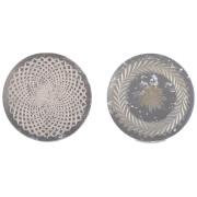 Nkuku Avani Etched Placemat - Antique Silver - Flower