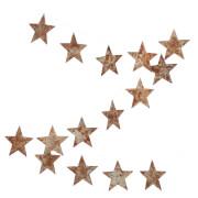 Nkuku Abari Garland Wire Star - Aged Zinc