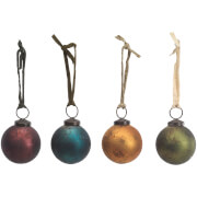 Nkuku Oko Baubles - Mixed Colours (Set of 4)