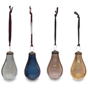 Nkuku Alura Pear Bauble - Multi Colours (Set of 4) - Small