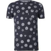 Brave Soul Men's Portal Print T-Shirt - Navy