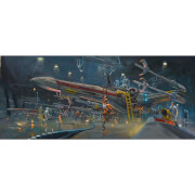Star Wars: A New Hope - Rebel Starfighter Print by Acme Archive's Artist Bryan Snuffer - 19 x 13 Inches
