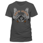 Sons of Anarchy Men's Winged Logo T-Shirt - Grey