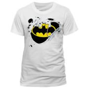 DC Comics Batman Torn Logo Männer T-Shirt - Weiß