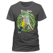 Rick and Morty Men's Spiral T-Shirt - Grey