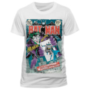 DC Comics Men's Batman Joker Comic T-Shirt - White