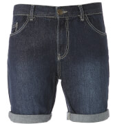 Brave Soul Men's Uganda Denim Shorts - Dark Wash