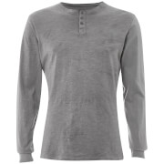 Threadbare Men's Austin Grandad Long Sleeve Top - Grey