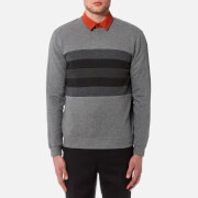 Image of Folk Mens Panel Sweatshirt - Greys Mix - 3/M - Grey