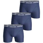 Bjorn Borg Men's 3 Pack Solids Boxer Shorts - Blue Depths