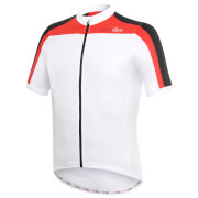 RH+ Space Short Sleeve Jersey - White/Black/Red