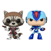 Figurines Pop! Rocket Vs MegaMan - Marvel Vs Capcom (Lot de 2)