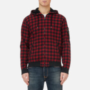 Polo Ralph Lauren Men's Check Hooded Jacket - Red/Black - L - Red/Black