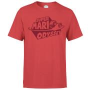 Nintendo Super Mario Odyssey Logo T-Shirt - Rot